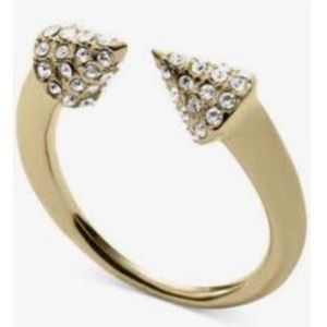 Micheal Kors Pave Open Arrow Ring NEW
